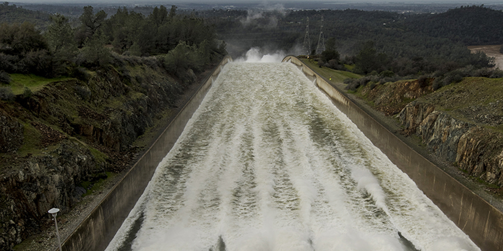 Oroville Emergency Spillway IN Oroville, California